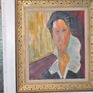 Portrait of Hanka Zborowska, 1917 by Amedeo Modigliani Reproduction by Papou