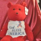 Dale Earnhardt Jr Teddy Bear God Bless America 24""