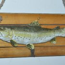 "Fish on Wooden Plaque 17"" Plaque"