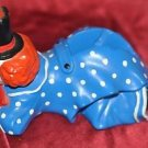 HILARIOUS RARE Colorful CLOWN Tape/Roll Sticker/Label Dispenser WOW! FUN LAUGH!!