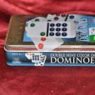 CARDINAL Double Nine Color Dot Dominoes GAME in Color Collectors Tin