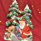 CHRISTMAS TREE W/SANTA SNOW COVERED Multi-Color, Holiday and Mixed Materials