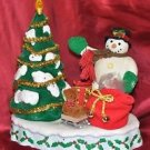 """Christmas Battery Operated Snowman and Tree 11"""" Tall X 9"""" Wide"""
