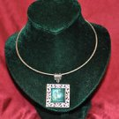 Turquoise Colored Pendant Collar Necklace