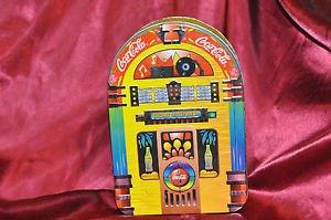 "COCA COLA TIN ~ ""Always Rockin"" Juke Box 1998 Excellent Beautiful Piece!"