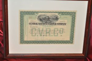 Central Vermont Railroad Company Framed