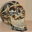 HEAD HUNTER ANCESTRAL HUMAN TROPHY RESIN SKULL TATOO