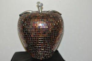 Decorative Multicolor Crystal Apple Made in India Ceramic and Multi-Color