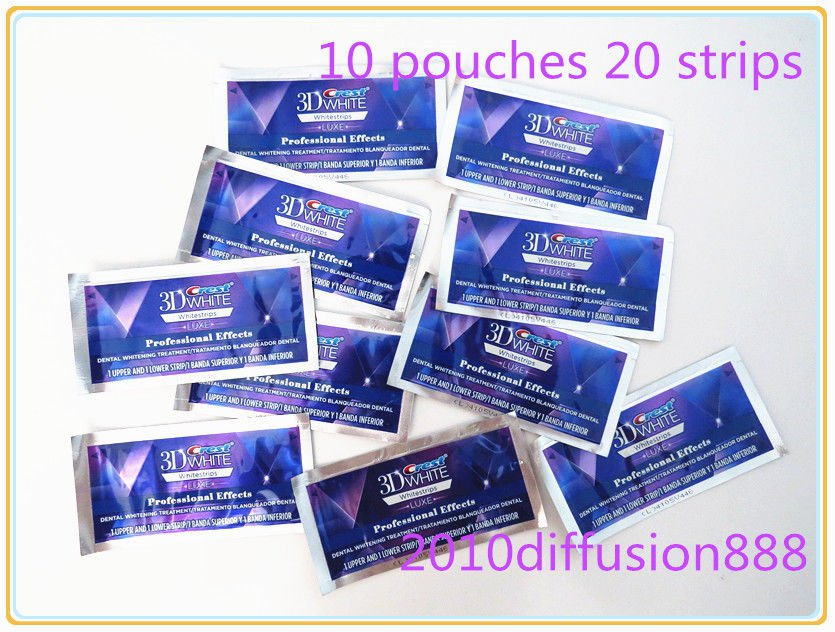 Crest 3D Whitestrips LUXE Professional Effects 10 Pouches 20 Strips