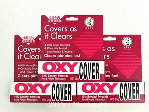 OXY Cover for Acne pimple (10% benzoyl peroxide) 25g From Hong Kong