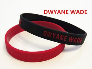 *MIAMI HEAT***DWYANE WADE** BASKETBALL STAR  ID WRIST BANDS BRACELET