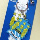 MANCHESTER CITY KEYFOB KEYCHAIN COLLECTIBLE GREAT GIFT DOUBLE-SIDE NEW