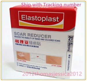 Elastoplast Scar Reducer 7x4cm 21 Patches Reduction Skin Keloid Raised Treatment