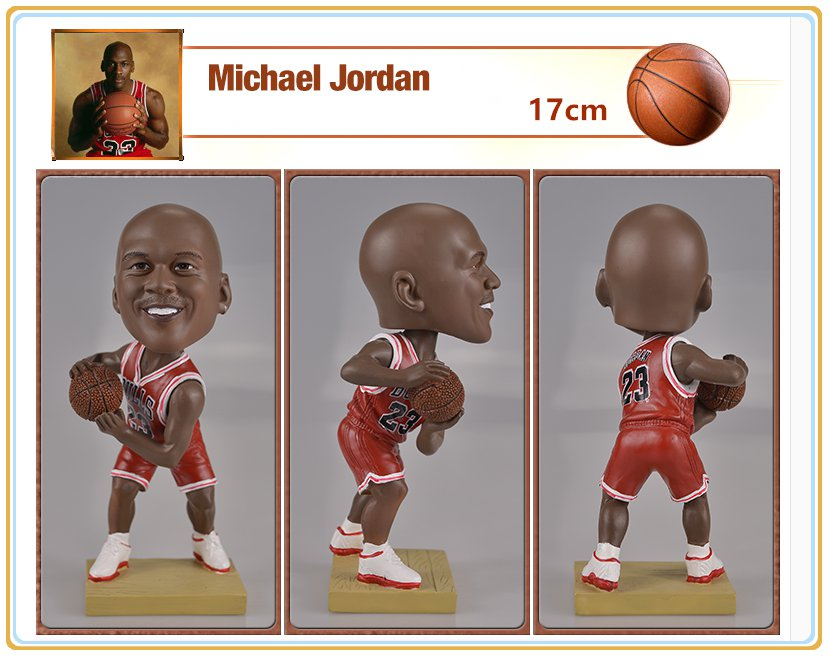 NBA Chicago Bulls MVP #23 Michael Jordan Bobblehead Figure 17cm Tall