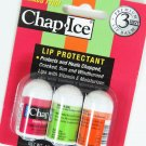 OraLabs Chap Ice Mixed Fruit Lip Balm 3 Stick X 3 Flavors