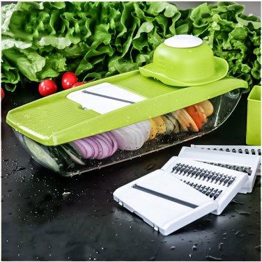 Mandoline Slicer Manual Vegetable Cutter with 5 Blades Multifunctional Vegetable Cutter