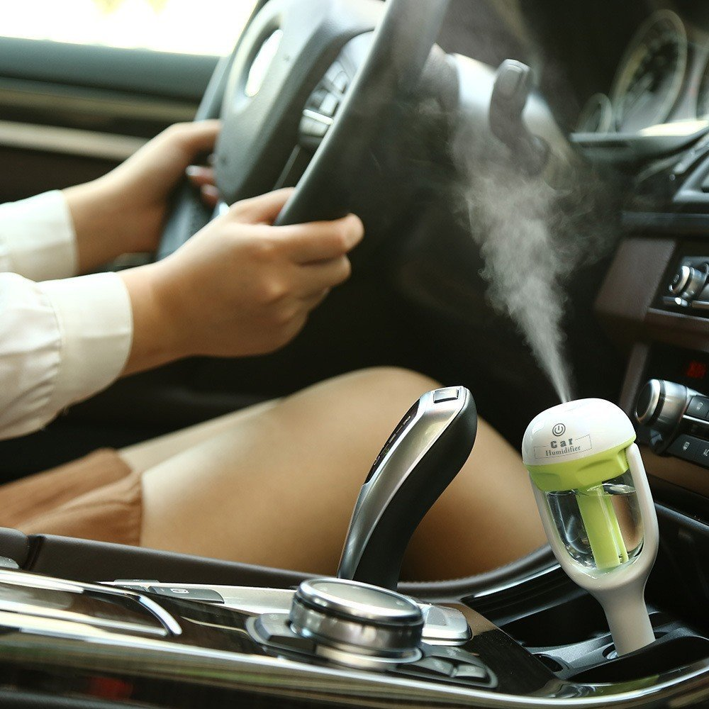 Car Aroma Diffuser Humidifier - Portable Mini Car Aromatherapy Humidifier Air Diffuser