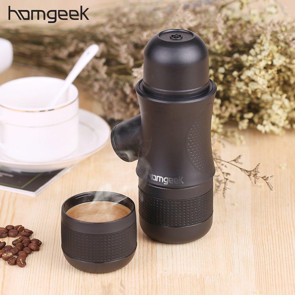Mini Portable Compact Manual Espresso Maker Black Coffee Maker Hand Operated Coffee Machine