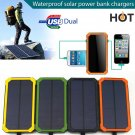 600000mAh Solar Power Bank Dual USB Portable External Battery Charger For Phones