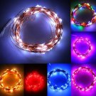 10M 100LED Copper Wire Xmas Wedding String Fairy Light Lamp Battery Operated