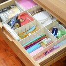 6Pcs DIY Grid Drawer Divider Household Necessities Storage Organizer Plastic