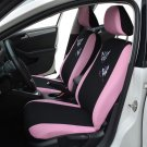 Butterfly Fashion Style Front Rear Universal Car Seat Covers Luxury Cute Pink