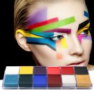 Professional 1 Set 12 Colors Flash Tattoo Face Body Paint Oil Painting Art
