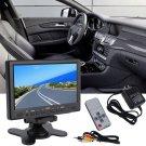 7Inch 800x 480 TFT Color LCD AV Vehicle Car Rearview Monitor HDMI VGA AV JN