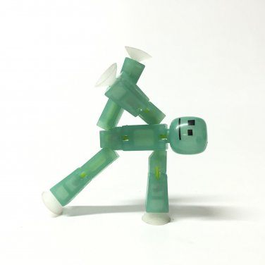 STIKBOT Translucent LIGHT Green ACTION Figure GLOW In THE Dark Figure toy