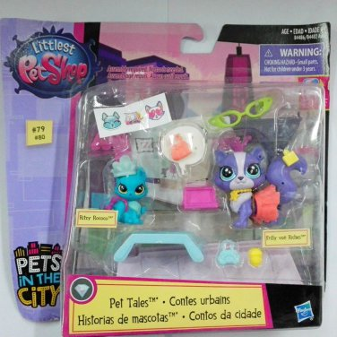 Rococo and Frilly Von Riches Pretend Play Tales Ritzy Littlest Pet Shop Pet Toy