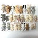 Random Pick 10pcs figures Sylvanian Families Dog Bear Family rabbit sheep toy