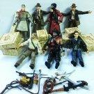 7x Indiana Jones figure & Box Accessory WILLIE SCOTT Short round Movie Figures