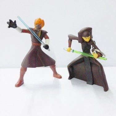2pcs Star Wars Toy Key chain LUMINARA UNDULI JEDI 2004 Figure toy Used