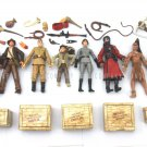 Lot 8pcs Indiana Jones Figures Toy WILLIE SCOTT TEMPLE GUARD OF DOOM Short Round