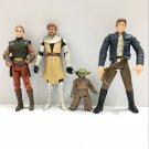 "Star Wars Padme Amidala, Obi-Wan Kenobi, Yoda, HAN SOLO 3.75"" action figure Toy"