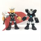 Playskool Marvel  Super Heroe Adventures Thor & Marvel's War Machine Figure toy