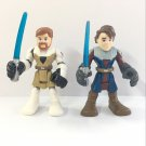 Anakin Skywalker & OBI WAN KENOB STAR WARS Playskool Heroes Jedi Force Figures