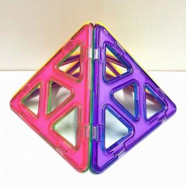 4pcs Magnetic Magformers Building Toys Construction Blocks Triangle Bricks EA77