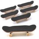 5 Pcs Bearing Wheels Wooden Maple Deck Fingerboard Skateboards 96mm Sports