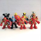 "8x Playskool Heroes 2.5"" Captain American,Iron-man,X-man,Thor Marvel Figures toy"