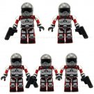 Lot 5Pcs/Set KRE-O KREO GI JOE COBRA AVAC FIREBAT PILOT RETRO KREON MINIFIGURE