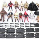 14pcs HASBRO Movie STAR WARS Chewbacca Han solo Yoda Driod Action Figure S450