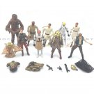Lot 10 Toys Star Wars Gifts CHEWBACCA Han Solo Yoda Obi-Wan Kenobi Action Figure