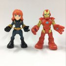 PlaySkool Heroes IRON MAN & BLACK WIDOW Marvel Adventure Super Hero Squad figure