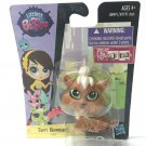 Littlest Pet Shop #3802 Terri Bowman Puppy Bow with Green Eye LPS toy
