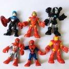 6PCS Playskool Heroes Captain American Iron-man Spiderman Marvel Action figures