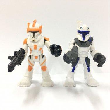 2x Star Wars Jedi Force Playskool Heroes Captain Rex US Seller & Commander Cody