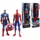 "Marvel Titan Hero Series Captain America Avengers & SPIDER-Man 12"" Figure"