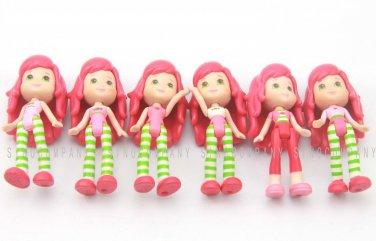 Toys 6 x Strawberry Shortcake 2008 Dolls Figures 3in. Girls Kids Baby Xmas Gifts