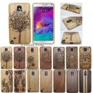 Natural Real Wood Bamboo Hard Case Cover for Samsung Galaxy Note 4/5 S7 Edge/S8